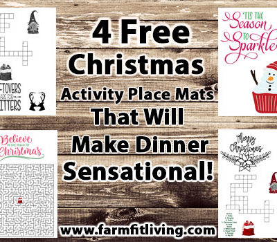 4 Free Christmas Activity Place Mats That Will Make Dinner Sensational