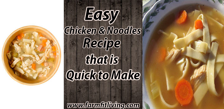 Easy Chicken and Noodles Recipe