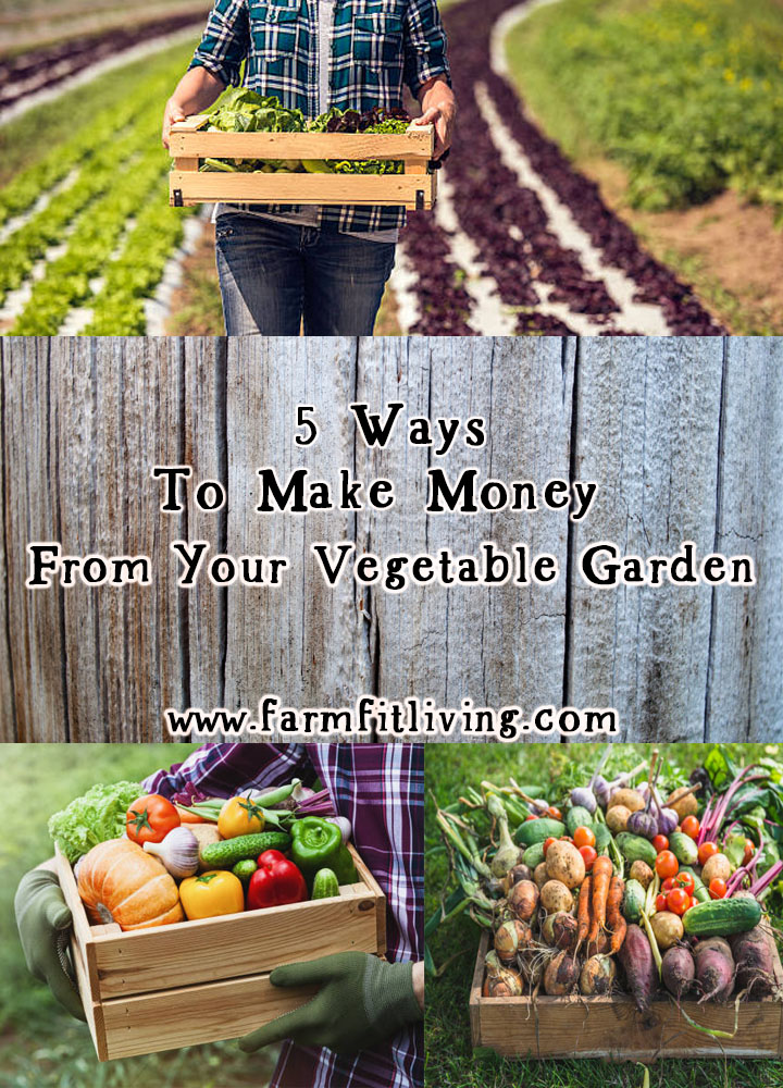 ways to make money from your vegetable garden